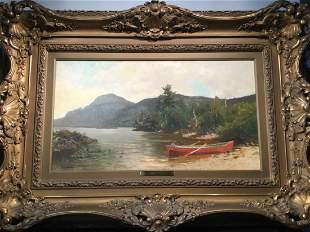 Signed George H. McCord Antique Oil Painting