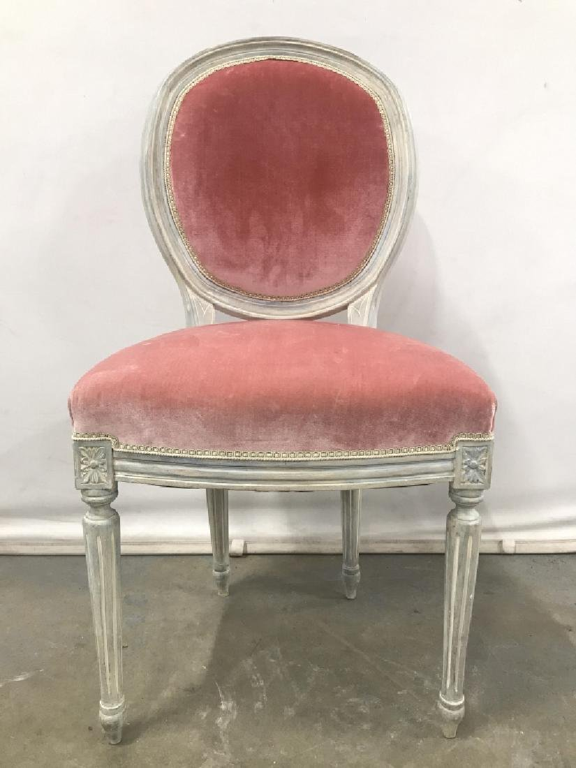Vintage French Style Round Back Side Chair