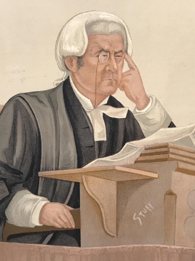 Satirical Vanity Fair Lithograph of Judge, c. 1891
