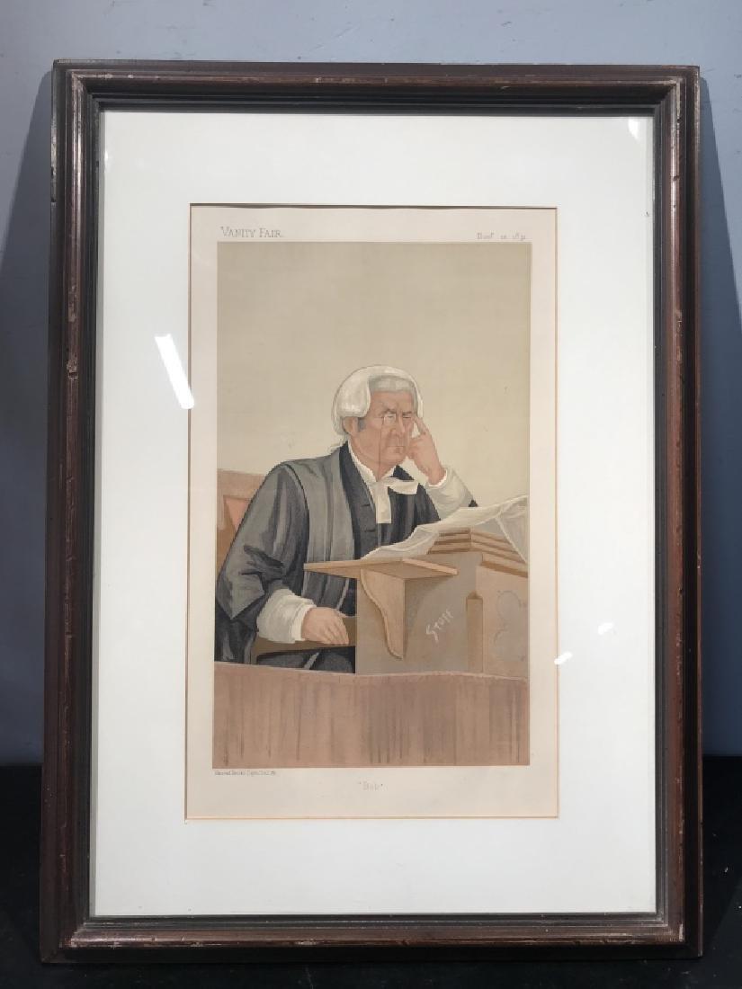 Satirical Vanity Fair Lithograph of Judge, c. 1891 - 2