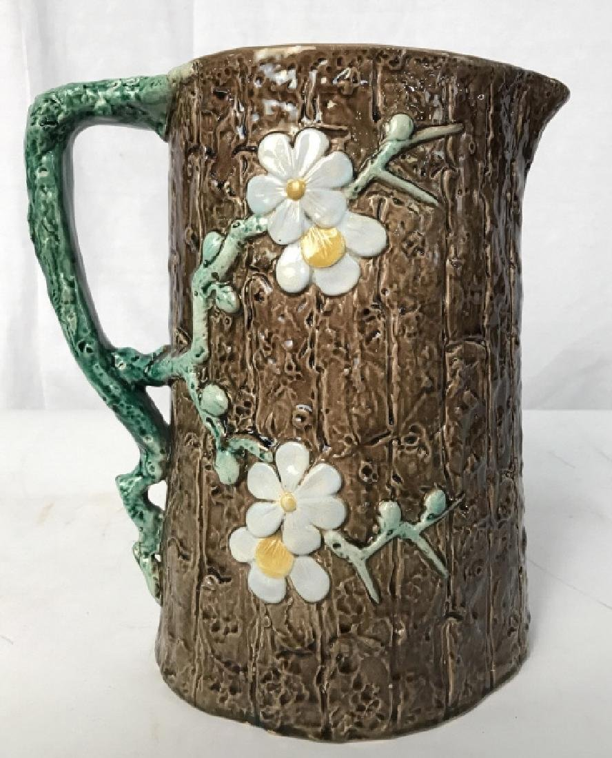 HOLDCROFT Signed Majolica Daisy Pitcher