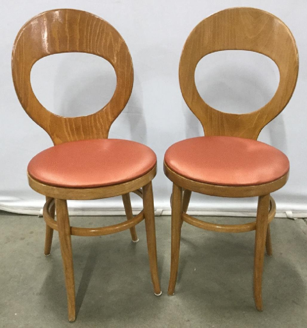Set 4 Mid Century Modern Style Wood Dining Chairs