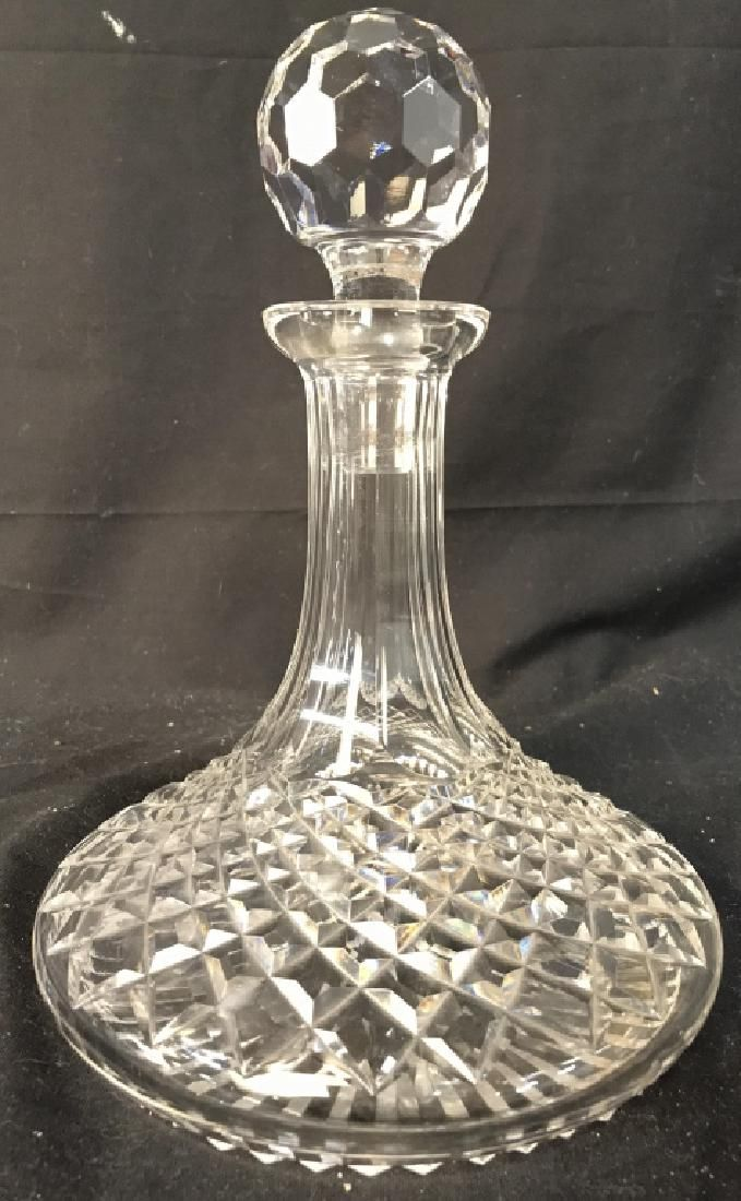 WATERFORD Cut Crystal Ships Decanter W Stopper