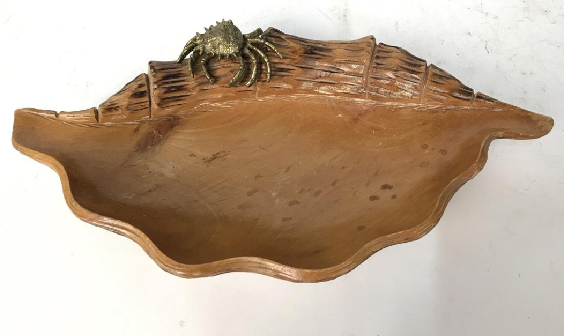 Aldo Tura Macabo Hand Carved Shell w/ Bronze Crab