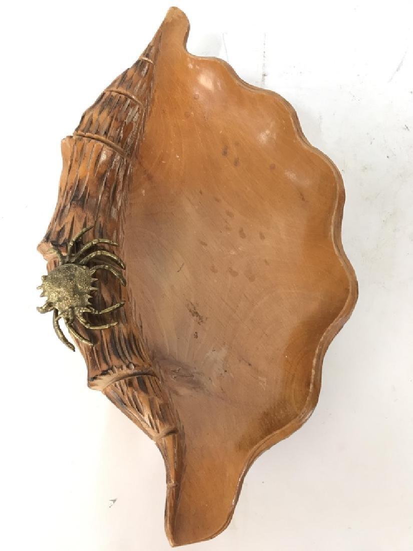 Aldo Tura Macabo Hand Carved Shell w/ Bronze Crab - 2