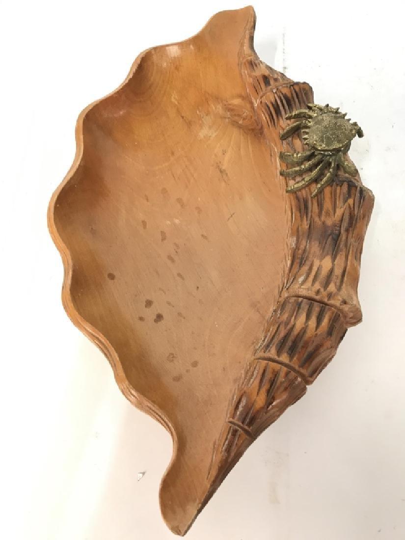 Aldo Tura Macabo Hand Carved Shell w/ Bronze Crab - 3