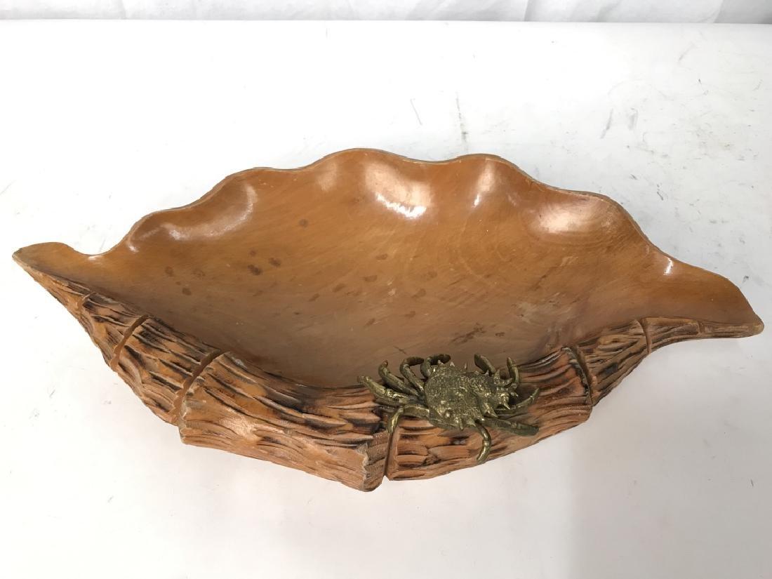 Aldo Tura Macabo Hand Carved Shell w/ Bronze Crab - 4