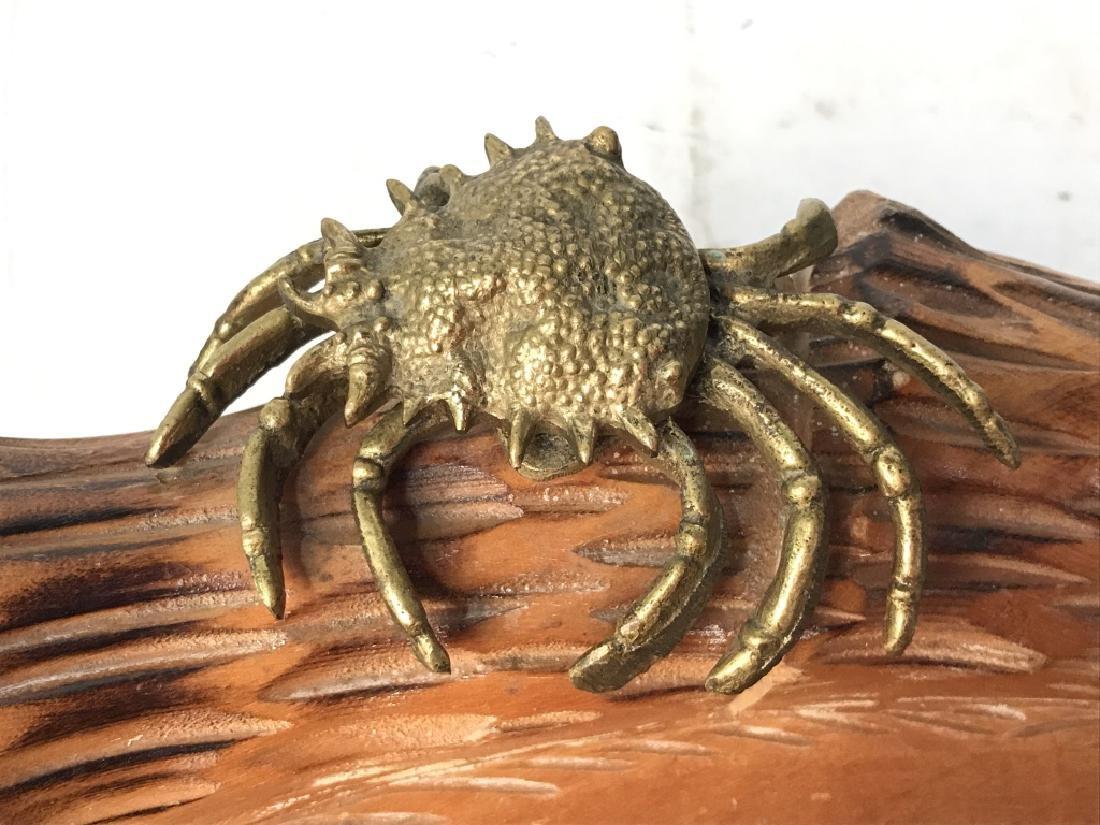Aldo Tura Macabo Hand Carved Shell w/ Bronze Crab - 6