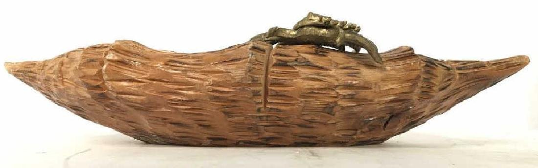 Aldo Tura Macabo Hand Carved Shell w/ Bronze Crab - 8