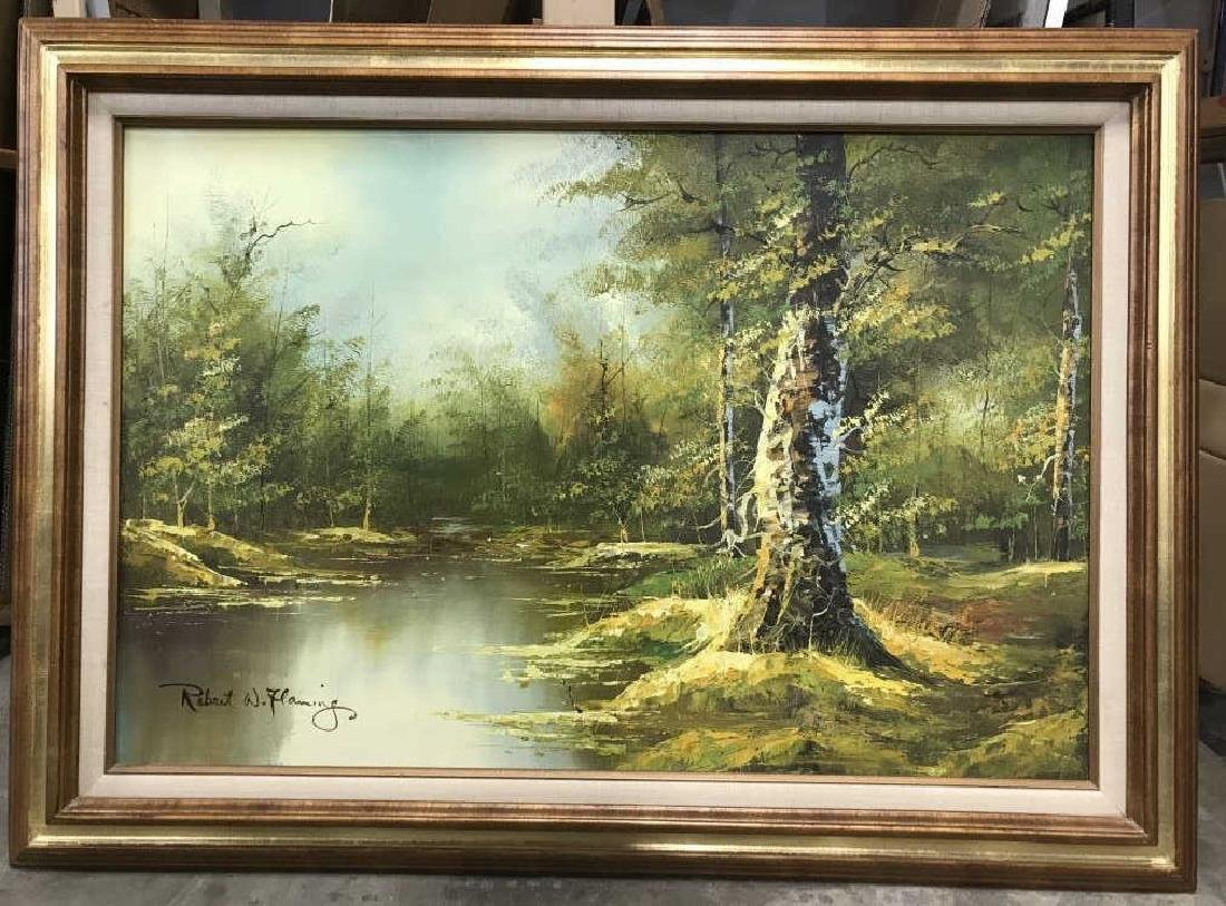 Signed Oil Painting On Canvas Of Landscape