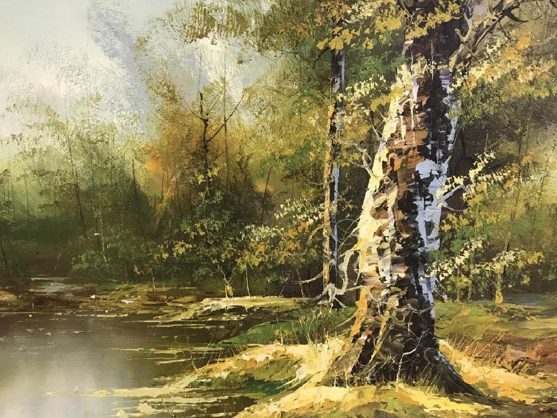 Signed Oil Painting On Canvas Of Landscape - 3