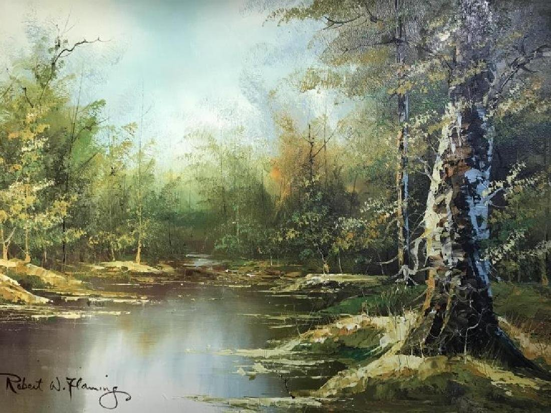 Signed Oil Painting On Canvas Of Landscape - 9