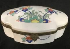 French Porcelain Metal Keepsake Box