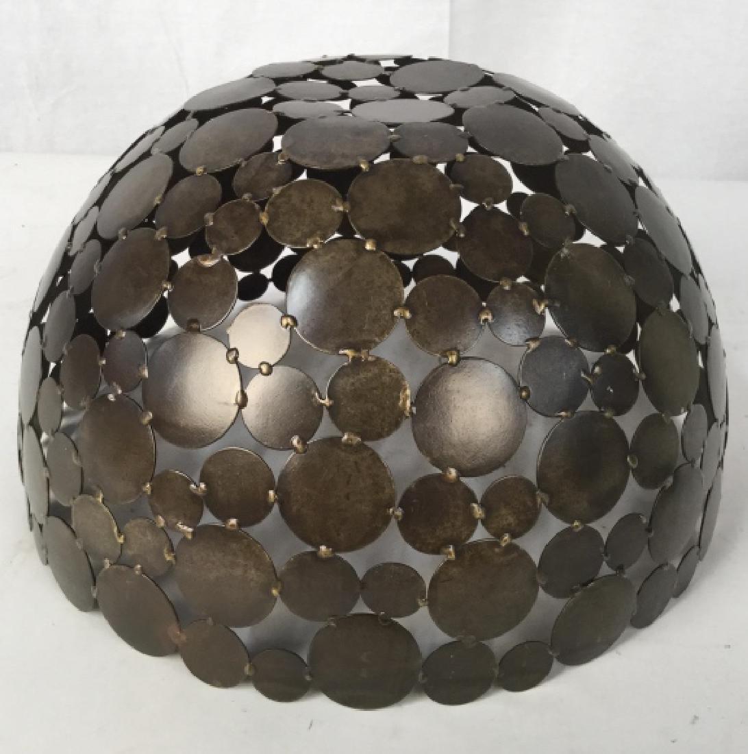 Contemporary Metal Disc Centerpiece Bowl - 7