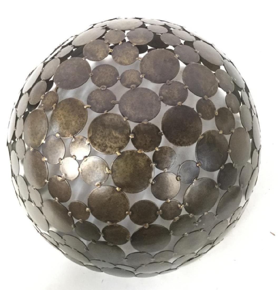 Contemporary Metal Disc Centerpiece Bowl - 8