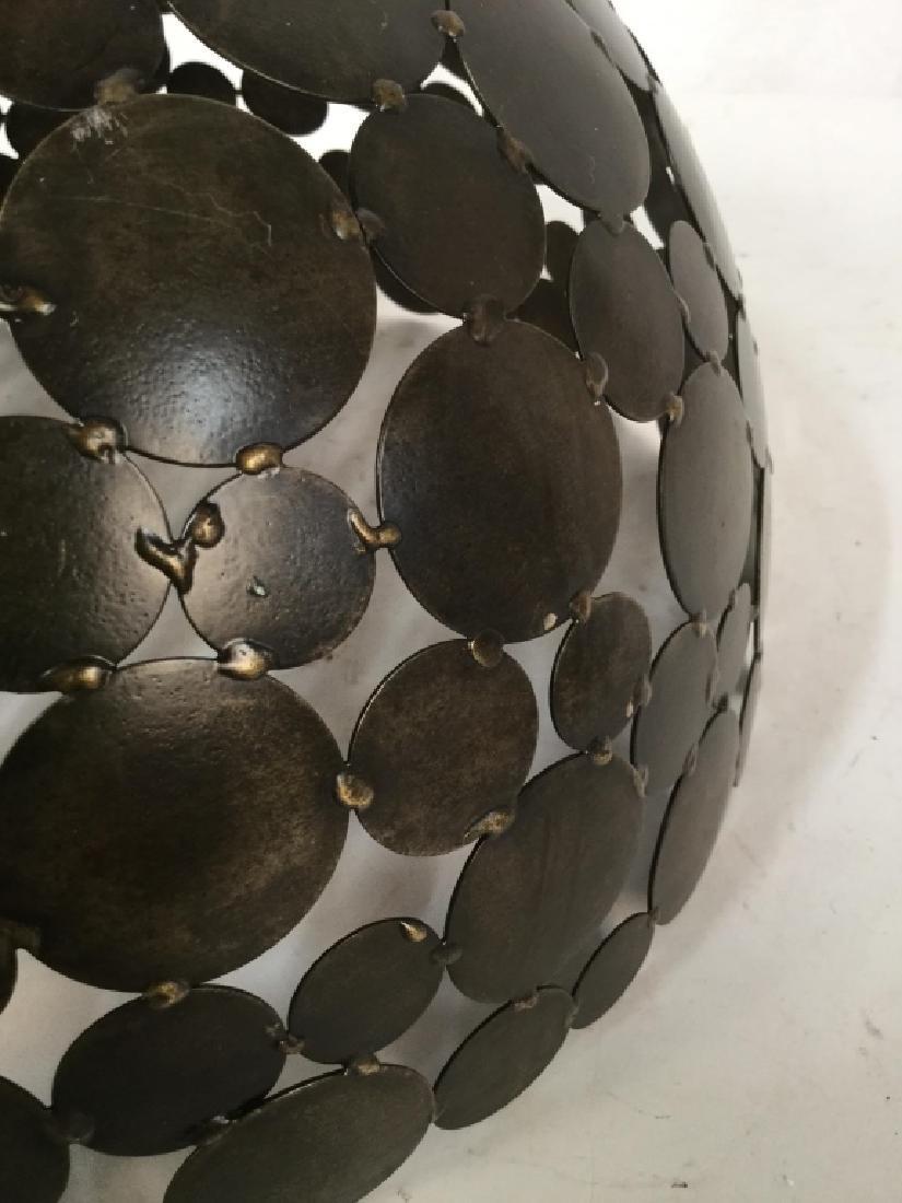 Contemporary Metal Disc Centerpiece Bowl - 9