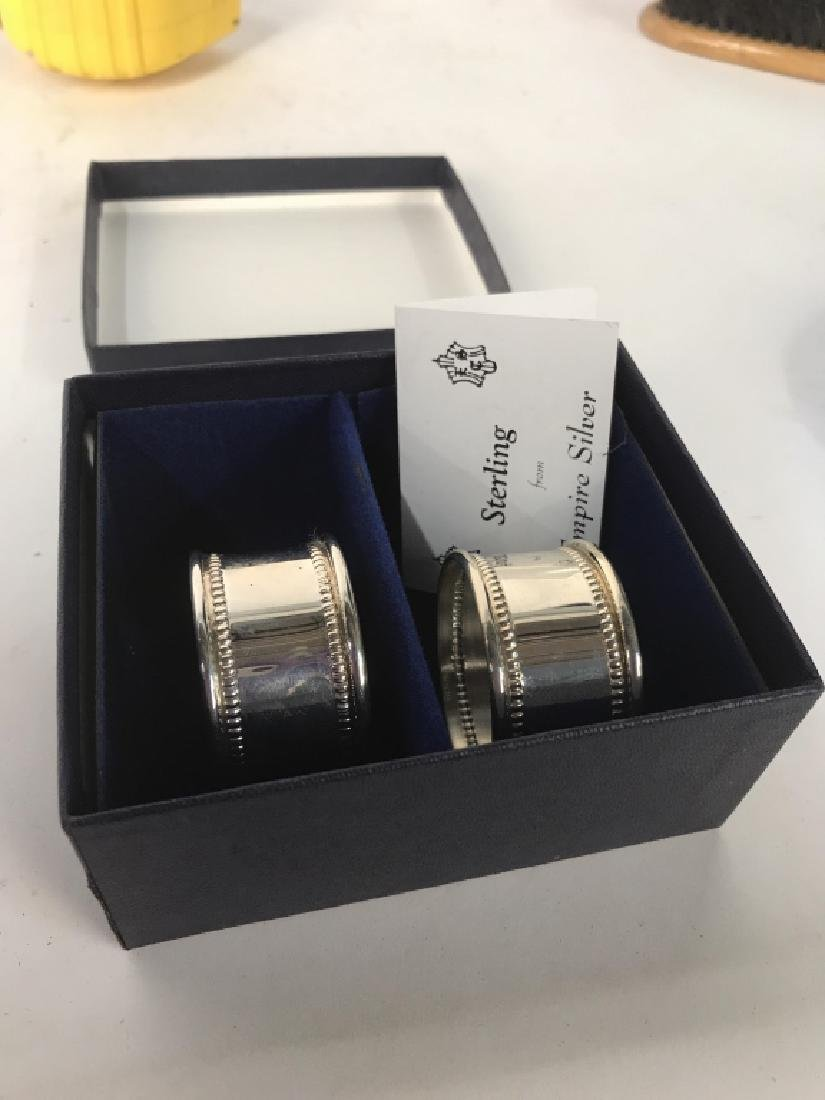 Boxed Set Two Sterling Silver Napkin Rings - 2