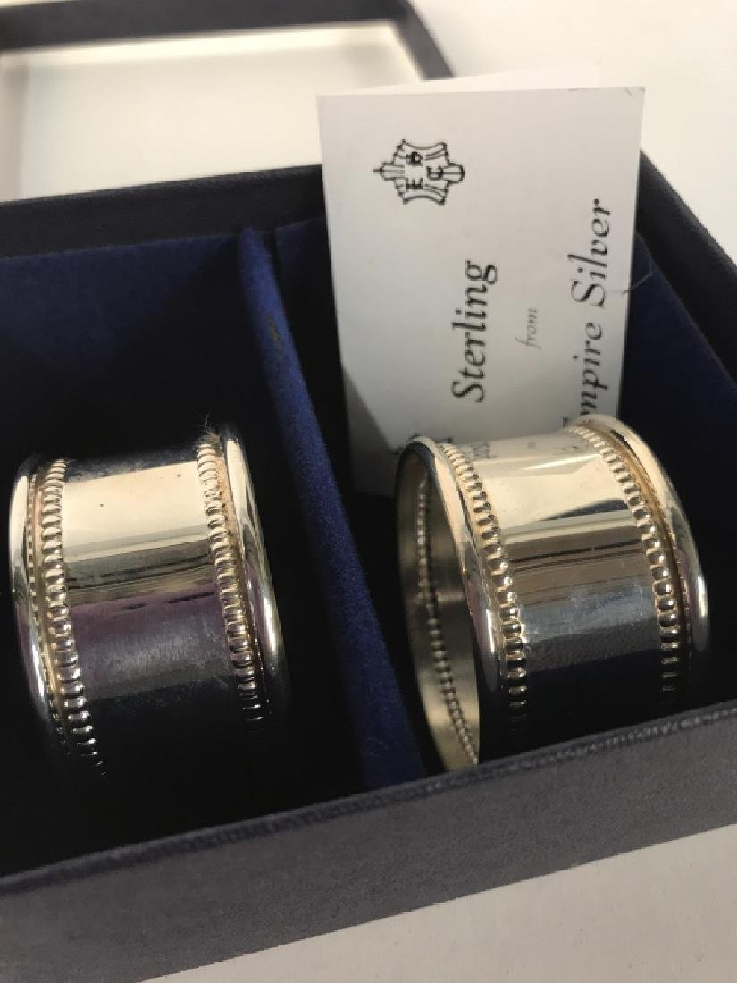 Boxed Set Two Sterling Silver Napkin Rings - 3