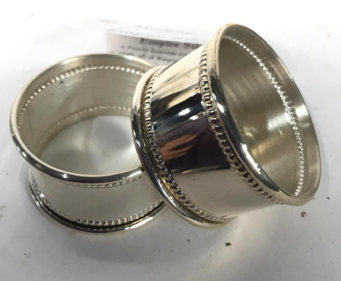 Boxed Set Two Sterling Silver Napkin Rings - 4