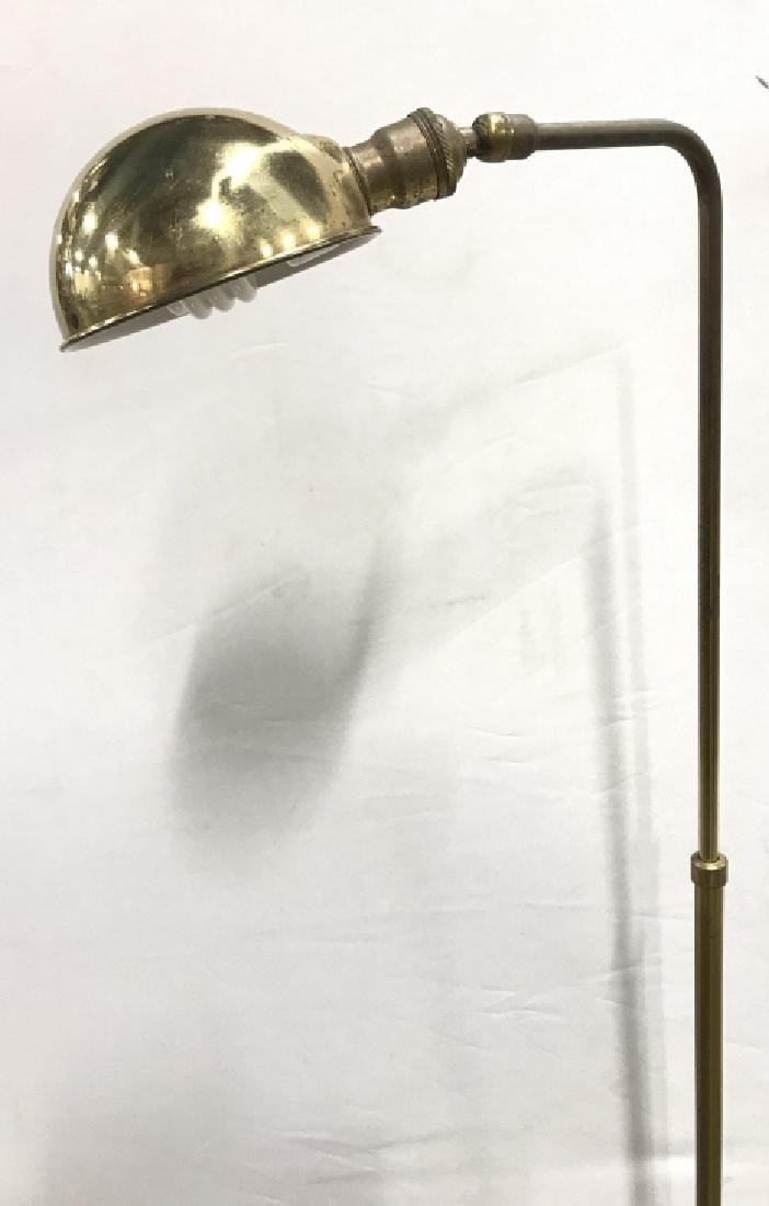 Gold Toned Metal Floor Lamp