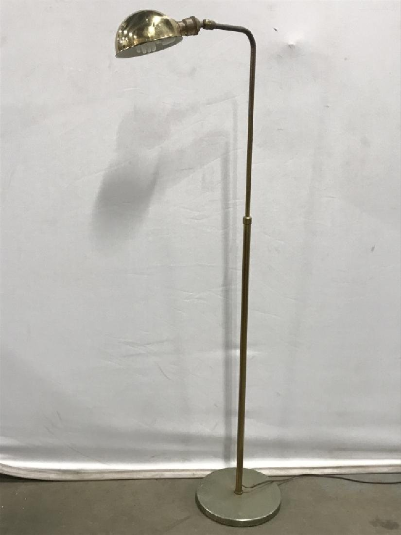 Gold Toned Metal Floor Lamp - 3