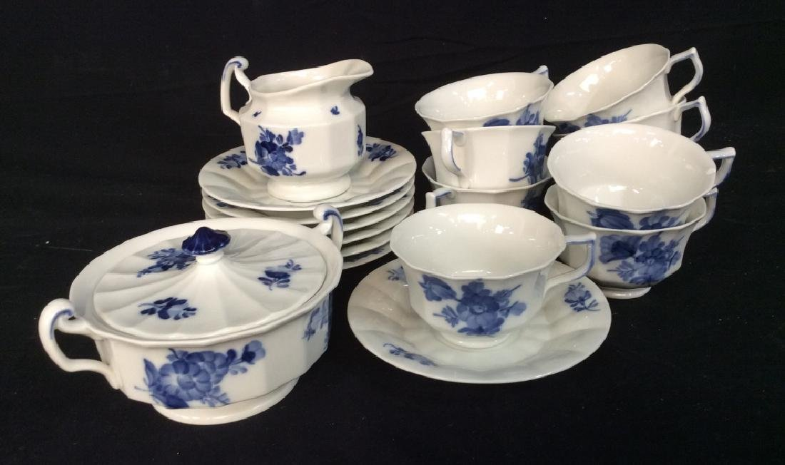 Royal Copenhagen Porcelain Partial Tea Service