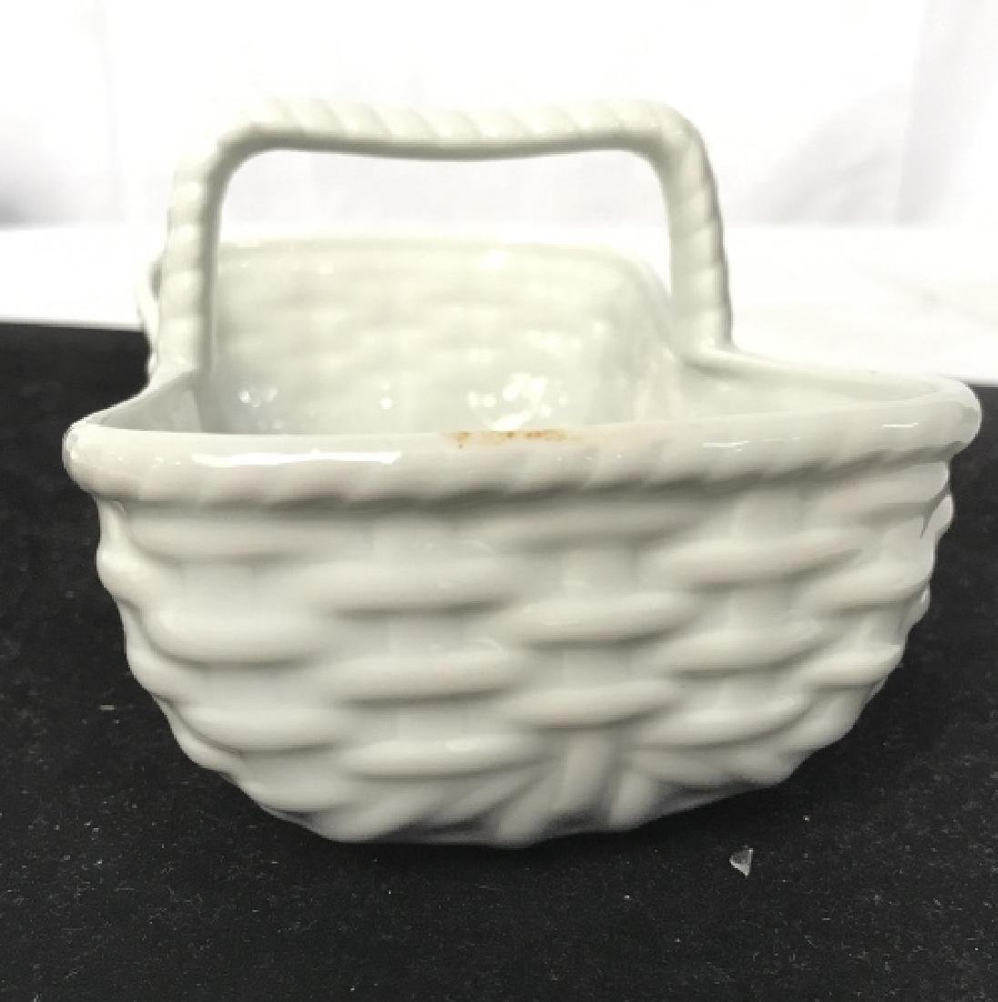 White Basket weave Serving Dish, Limoges - 3