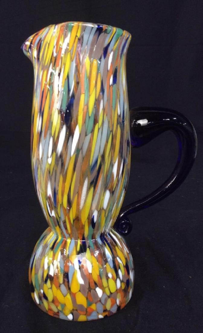 Murano Glass End Of Day Pitcher