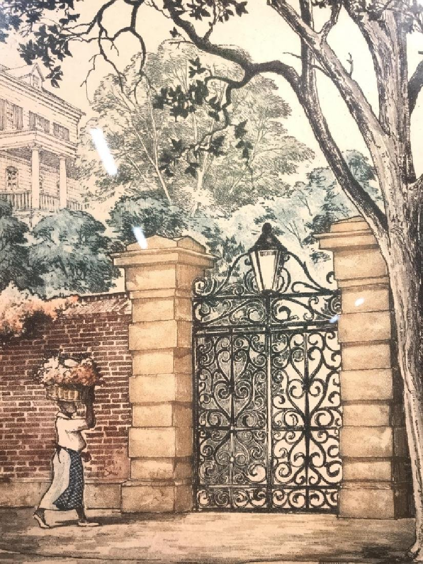 Signed CHARLESTON GATES Lithograph