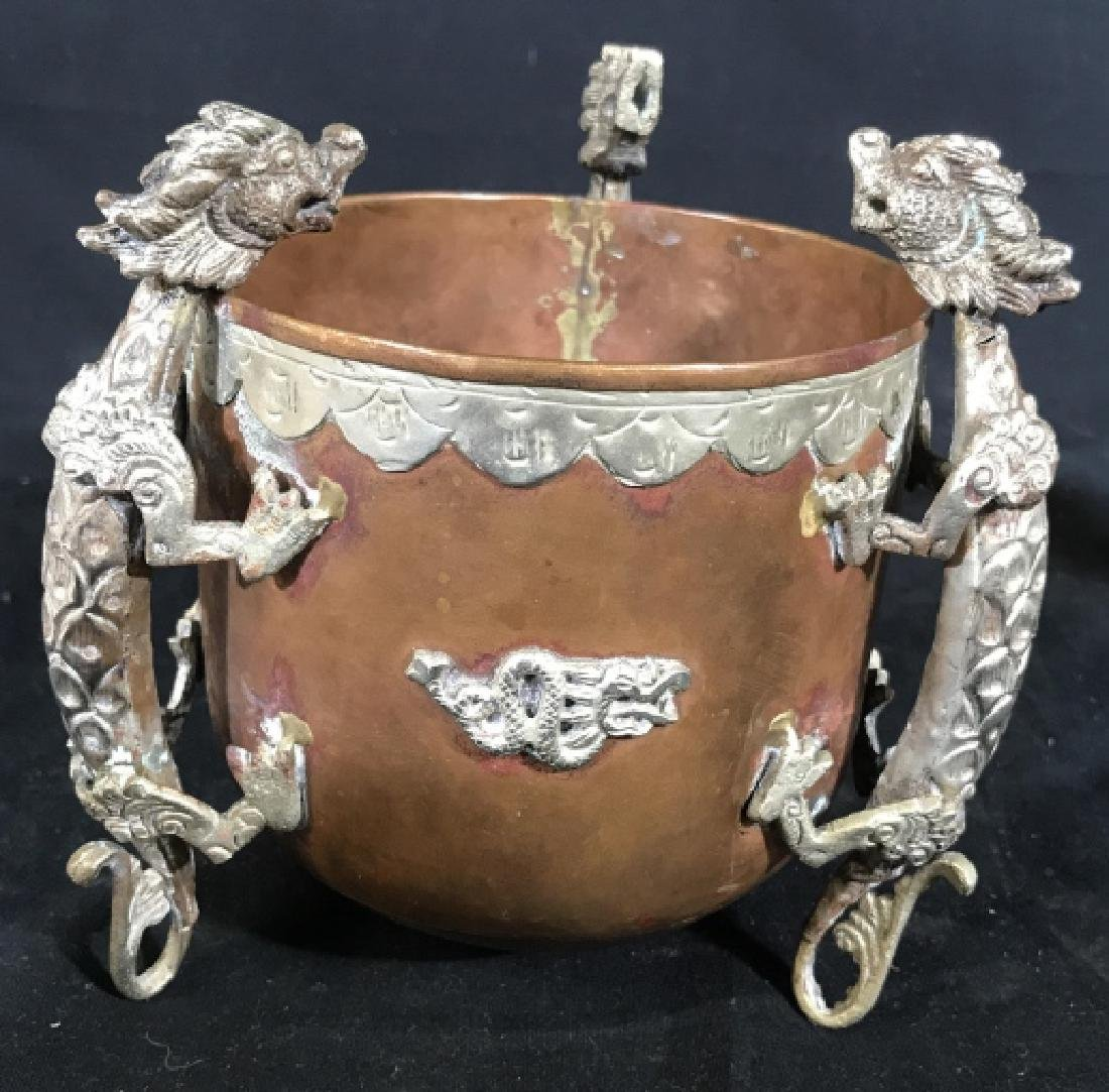 Chinese Copper Metal Dragon Bowl