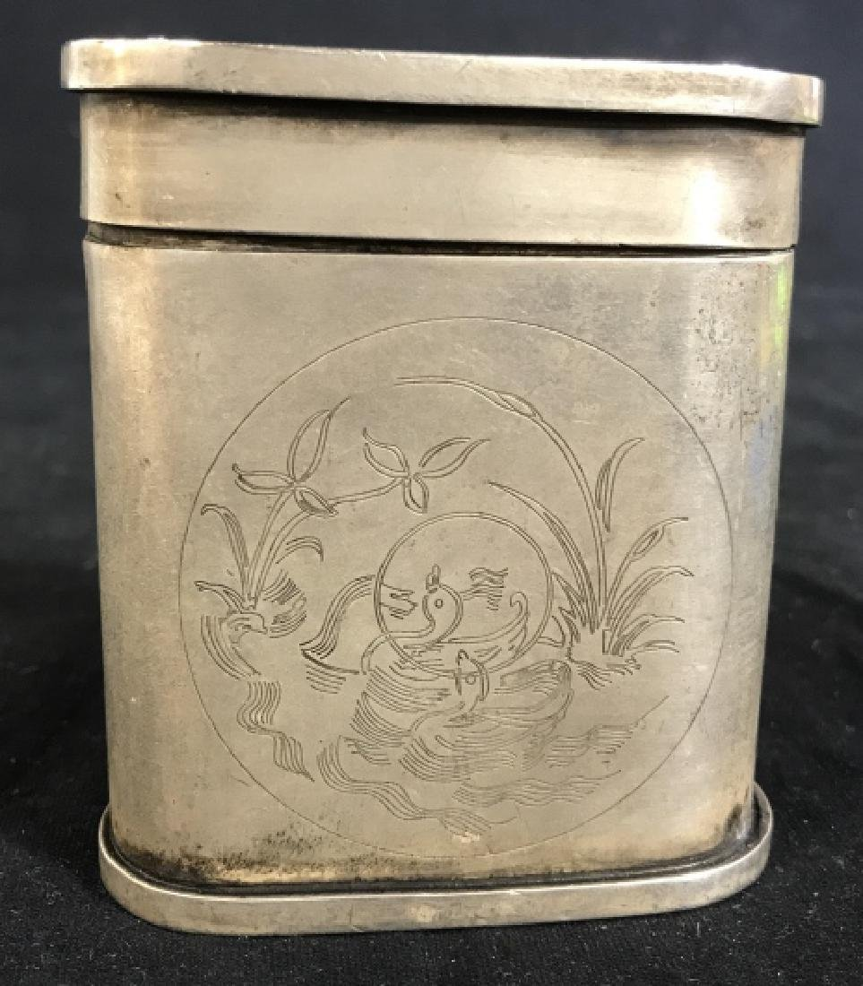 Chinese Old Silver Cigarette Case, Signed