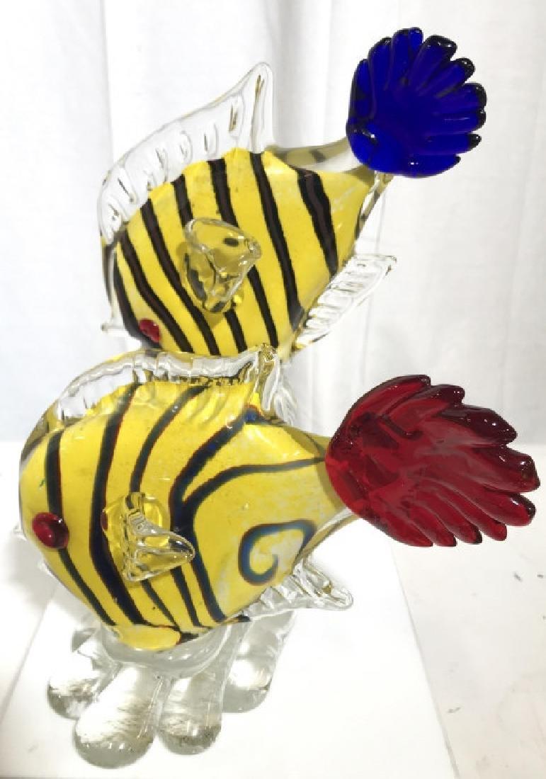 Murano Style Art Glass Fish Sculpture