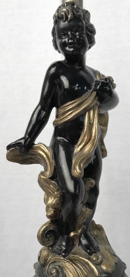 Neoclassical Style Cherub Figural Table Lamp