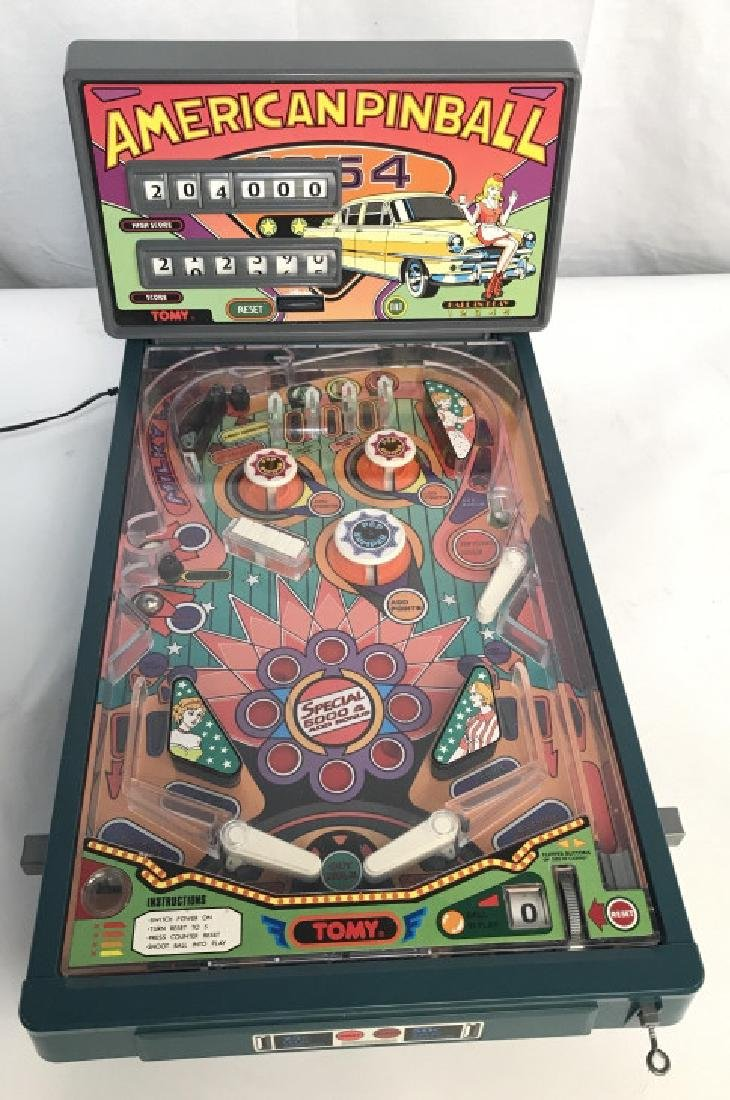 Vintage American Pinball Game By Tomy