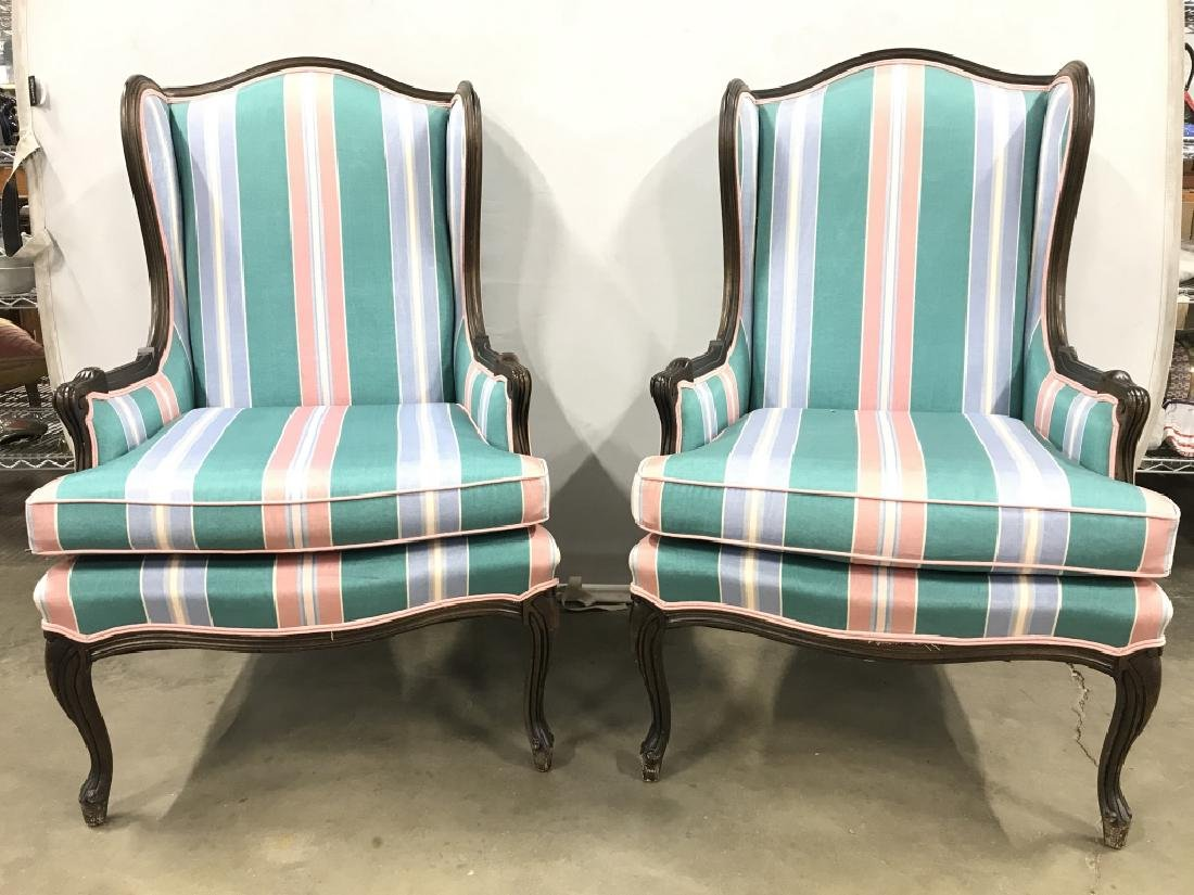 Lot 2 Vintage Wingback Chairs