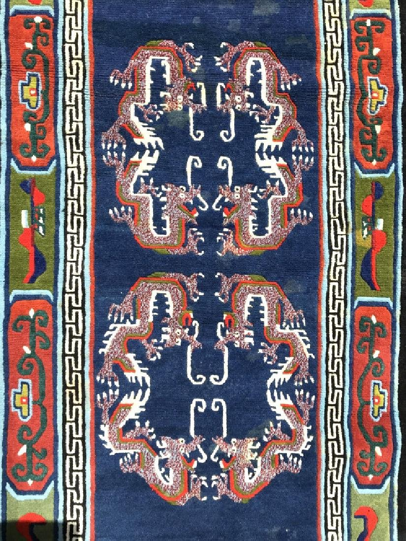 Antique Chinese Handmade Wool Rug