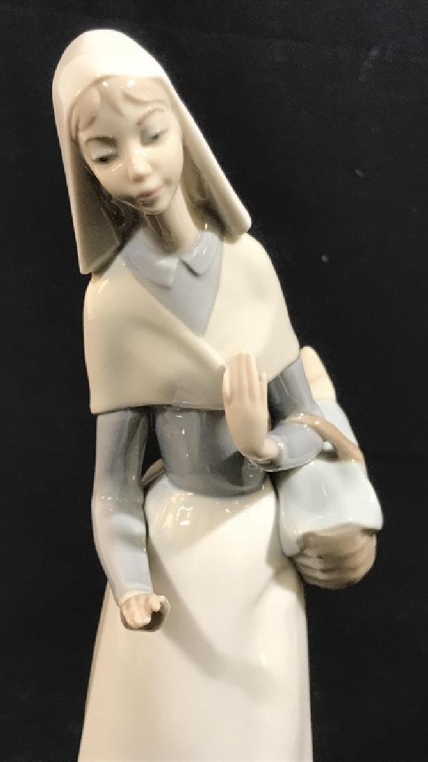 LLADRO Porcelain Figurine, Woman with Dog