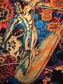Vintage 1971 MARVEL COMICS Poster Silver Surfer