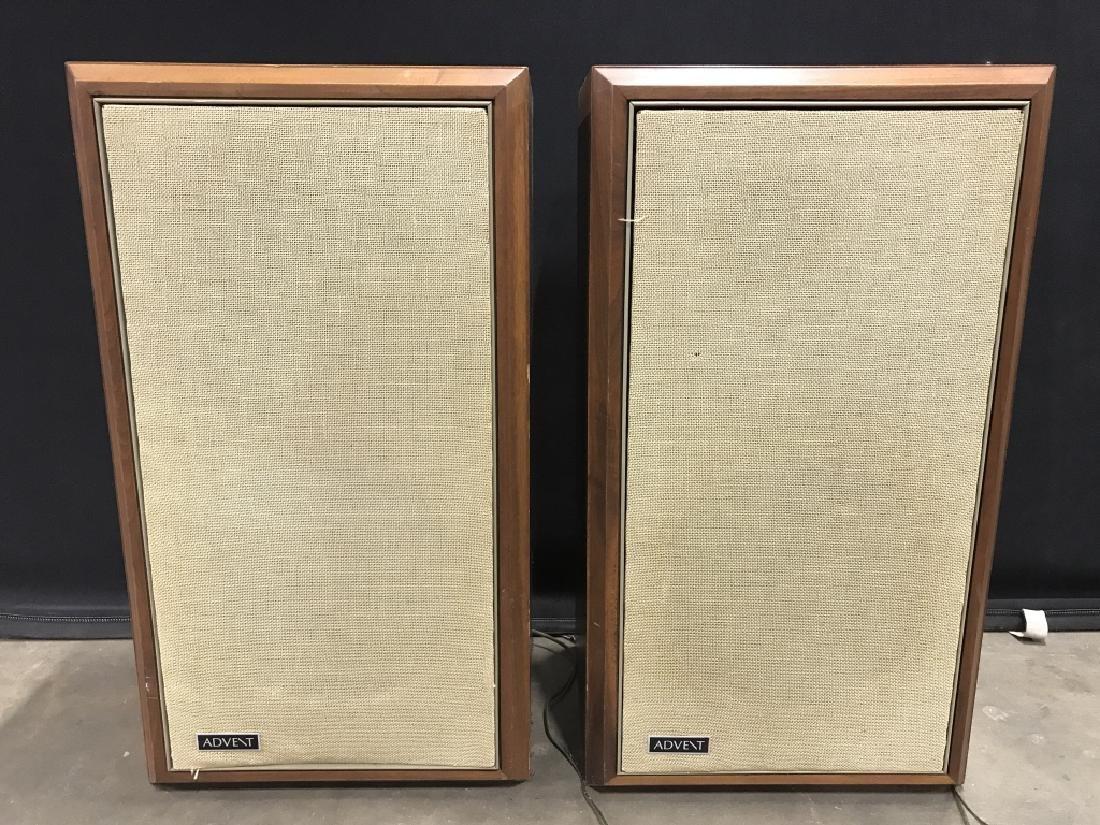 Pair Vintage ADVENT Wooden Speakers