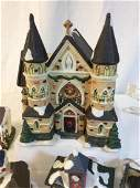Vintage Christmas Village Holiday Decoration Set