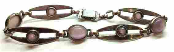 Sterling Silver W 14 k gold Bracelet