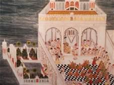 Framed Print Of Mewar School Painting