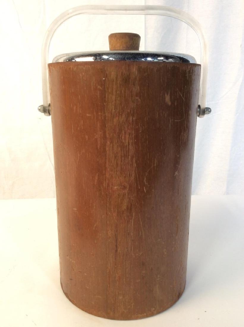 Wood & Metal Ice Bucket