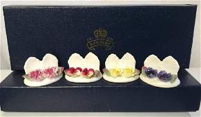 Set 12 AYNSLEY China Place card Holders