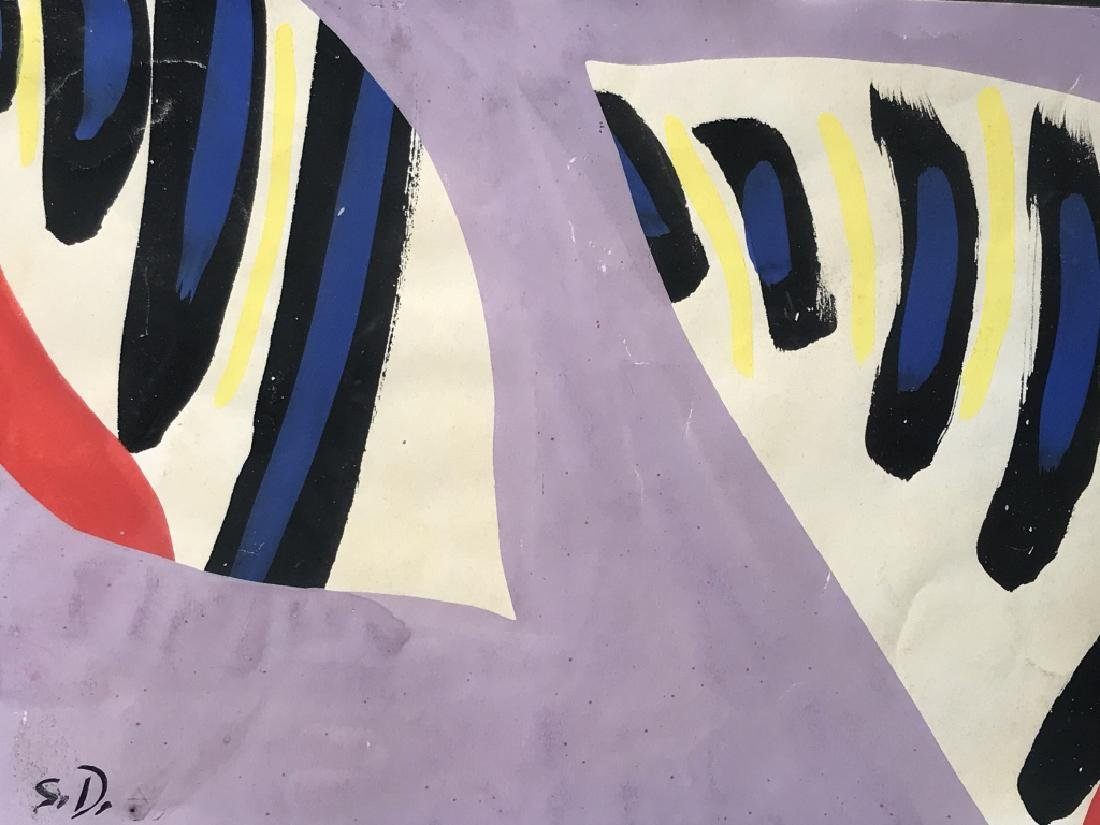 Initialed Painting, Attributed to SONIA DELAUNAY