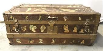 Vintage Antique Wooden Chest