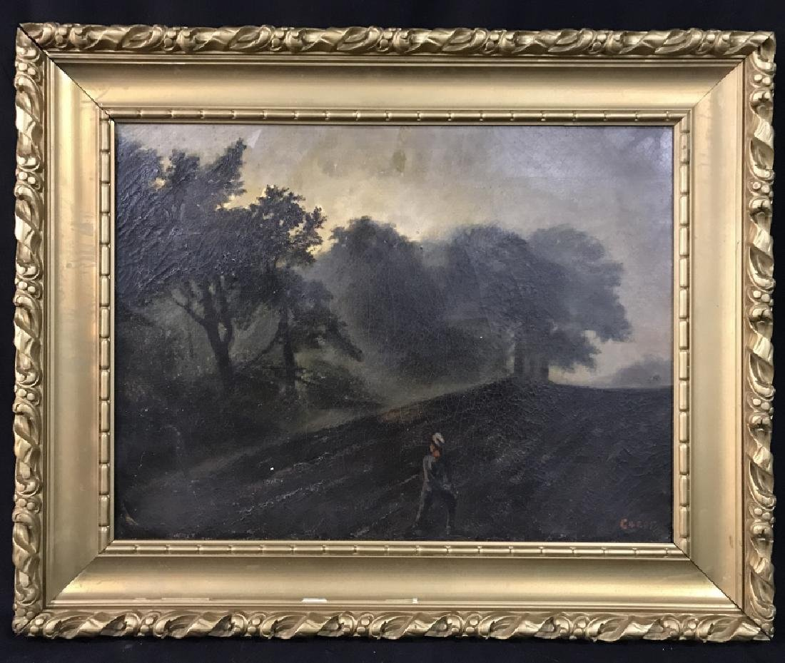 Signed Jean-Baptiste-Camille COROT Oil On Canvas
