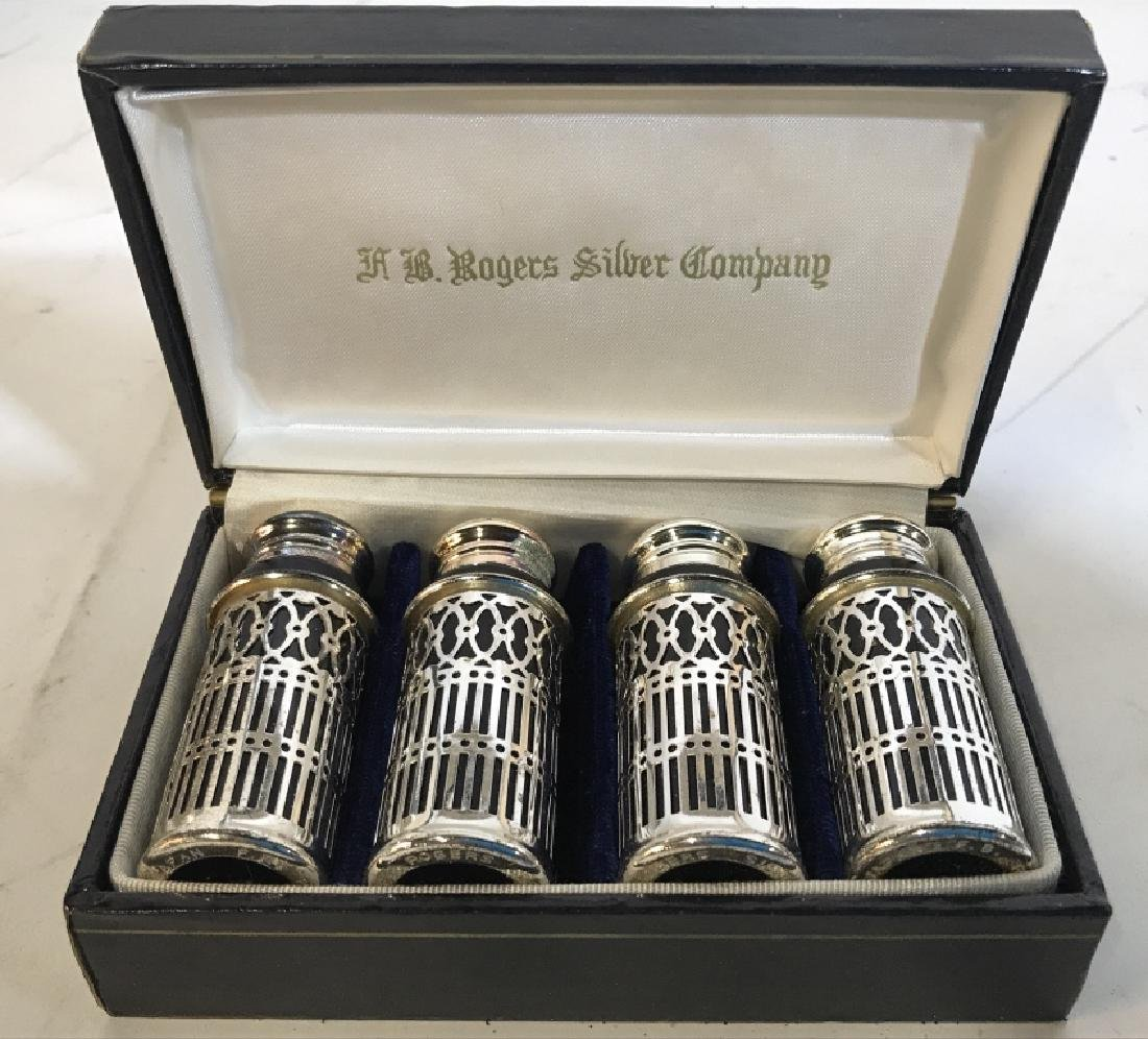 4 FB RODGERS SILVER COMPANY Salt & Pepper Shakers