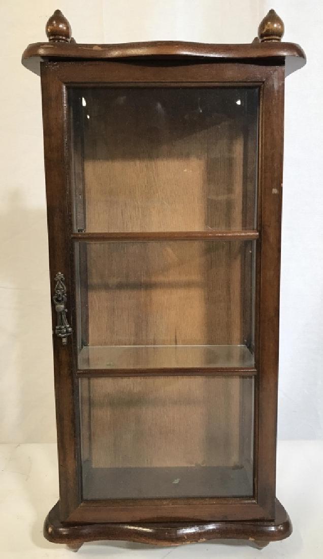 Vintage Carved Wooden Miniature Display Case
