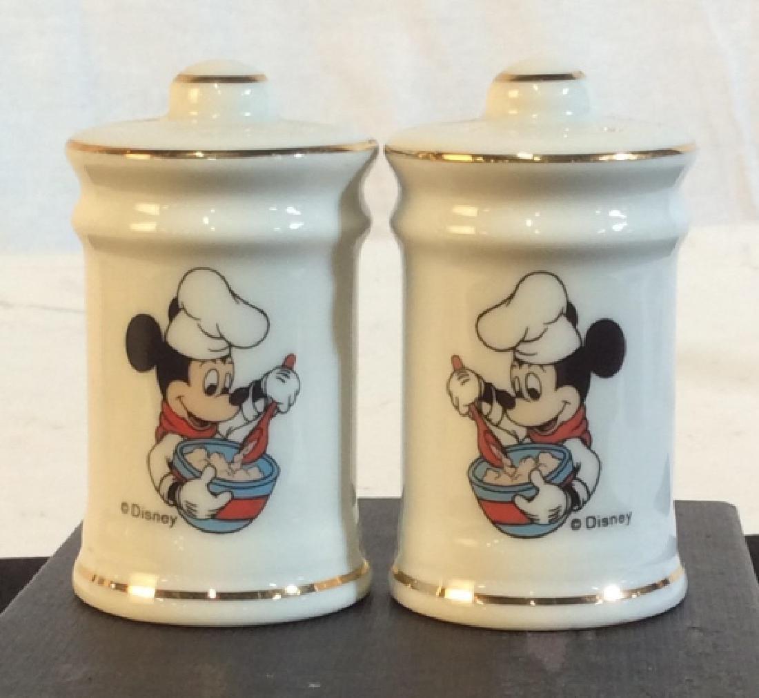 Set Vintage Disney Mickey Salt & Pepper Shakers